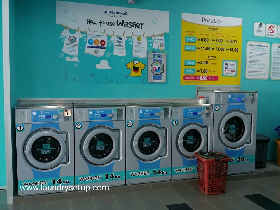 Pin By Pembekal Dobi Layan Diri On Self Service Laundry Self
