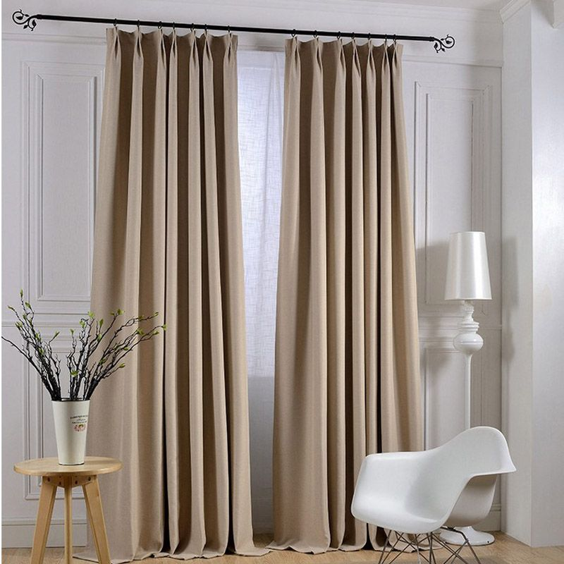 Find More Curtains Information About Modern Linen Solid Curtains For Living Room Blackout Hotel Cu Curtains Living Room Curtain Inspiration Minimalist Curtains