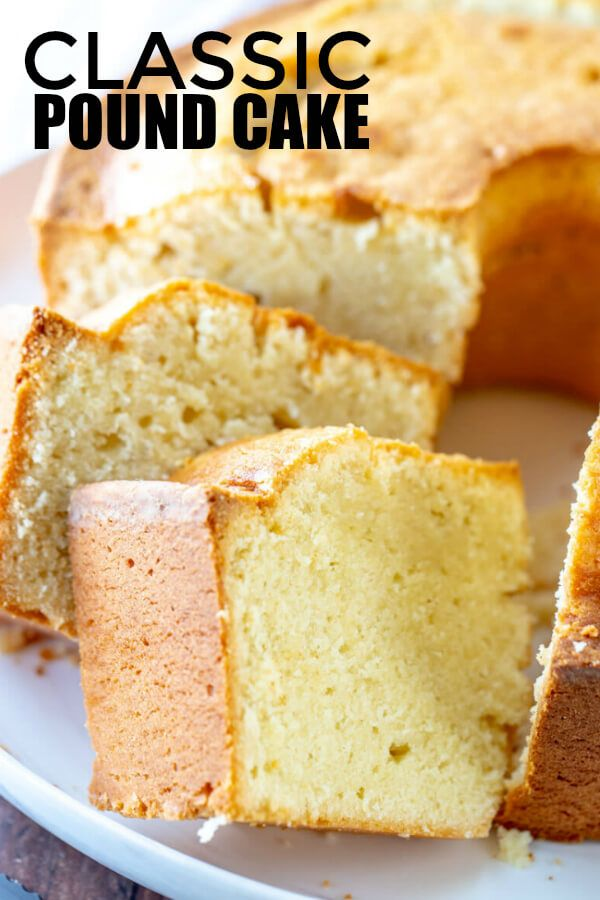 Classic Pound Cake is part of Dessert recipes - When it comes to cakes this Classic Pound Cake has always been a favorite, super simple with minimal ingredients makes this cake a winner