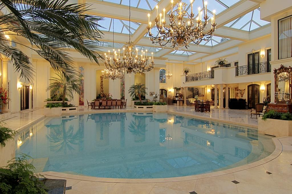 50 000 Gallons Saltwater Swimming Pool 7 39 Deep Marble Floors With Decorative Insets Multiple