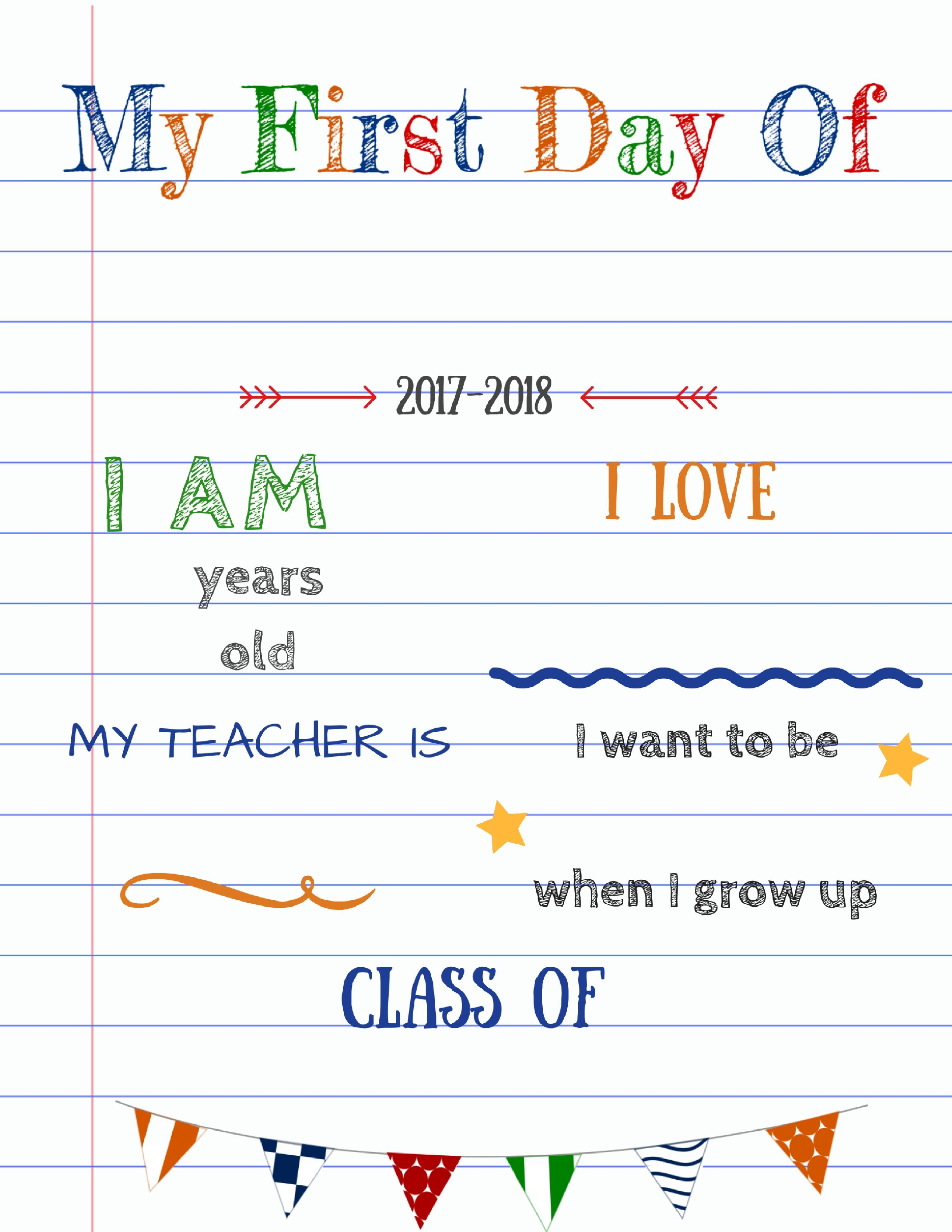 Editable First Day Of School Signs To Edit And Download