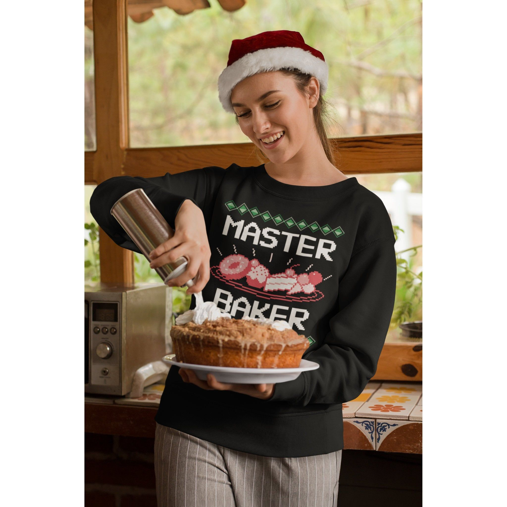 Master Baker | Unisex Sweatshirt | Cake Baker | Ugly Christmas Sweater | Bakers Gift | Christmas Jumper | Xmas Jumper | Plus Size to 5XL #TackyChristmas #XmasJumper #ChristmasSweater #baker #PlusSize #UglyChristmas #CakeBaker #LoveToBake #BakersSweatshirt #MasterBaker