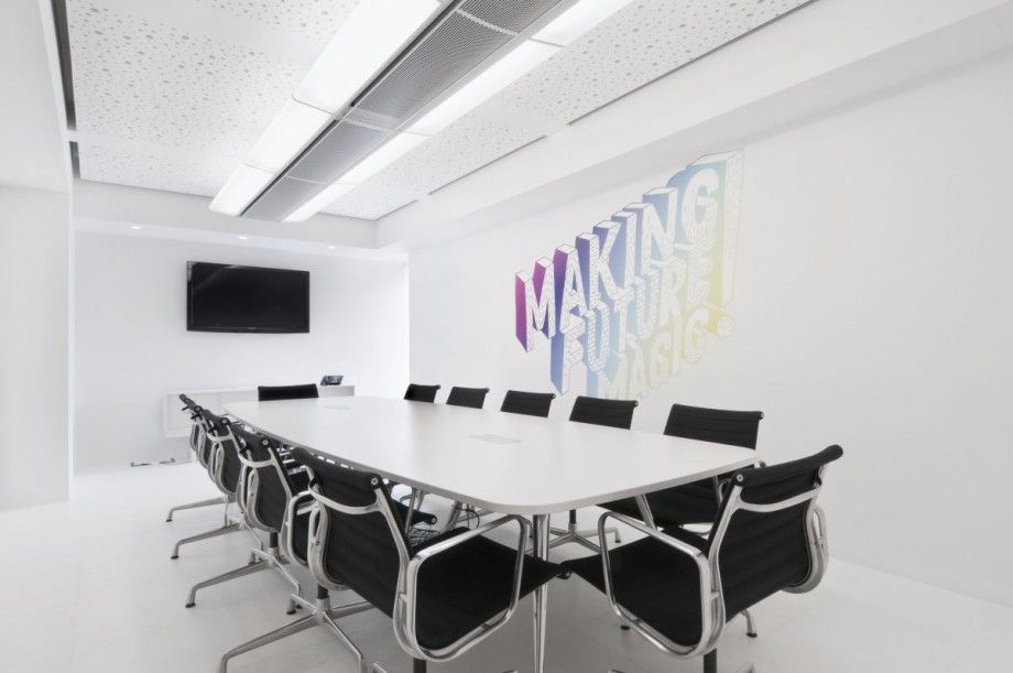 dentsu office london modern minimalist meeting room