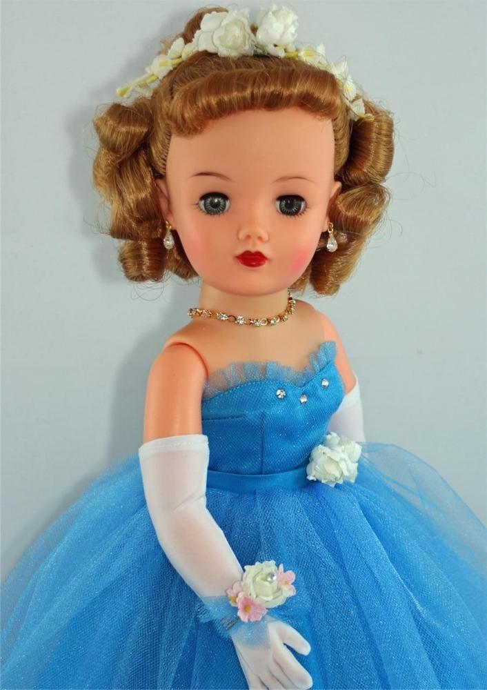 "LONG White Over the Elbow GLOVES for 18-20/"" Miss Revlon Vintage Fashion Dolls"