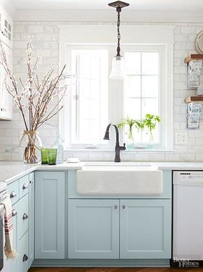 Cozy cottage style decor ideas dagmar   home dagmarbleasdale colorful kitchen cabinets also best house images in diy for rh pinterest