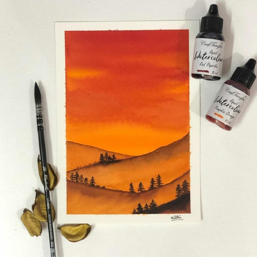 Reposting Nithinishipadm Watercolor Paper Liquid Watercolor