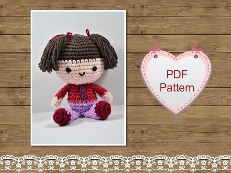 Amigurumi Patterns Free Crochet Pdf : Amigurumi pattern mini doll craftsy crochet dolls pinterest
