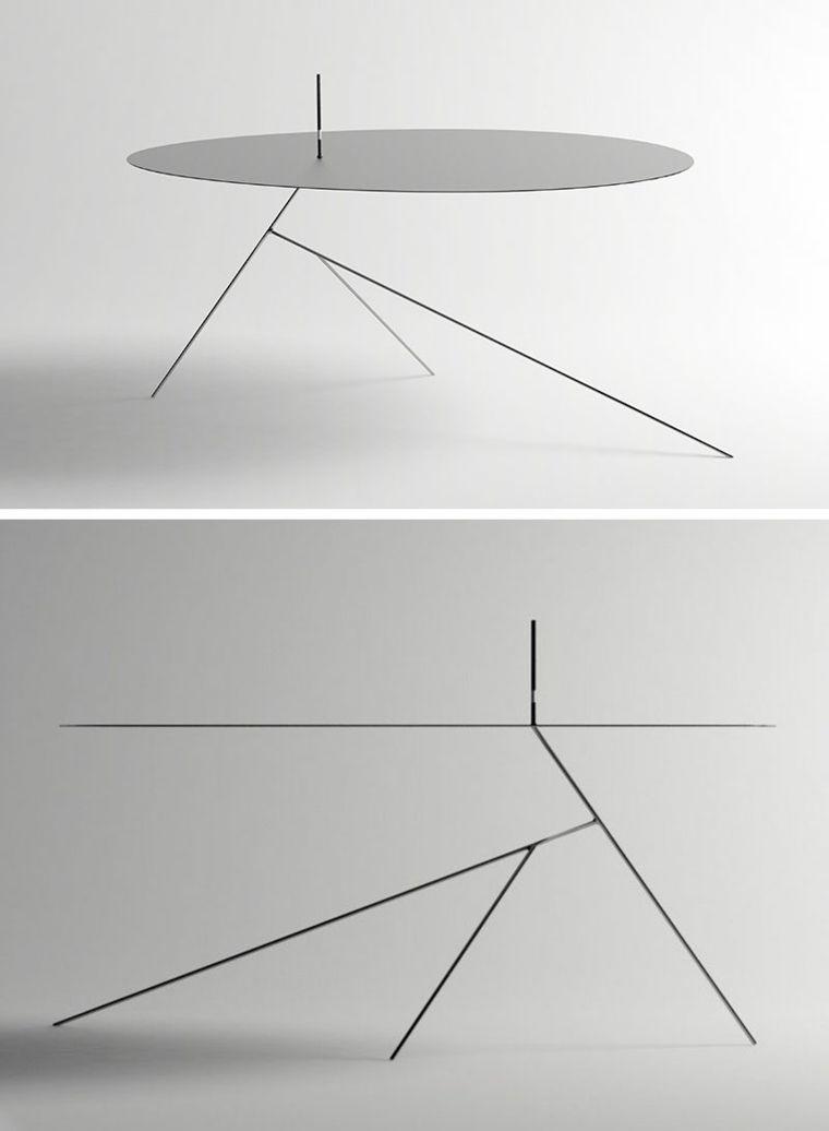 Concepto Minimalista Mesa Patas Muebles Pinterest Concepto  # Muebles Diferentes Estilos