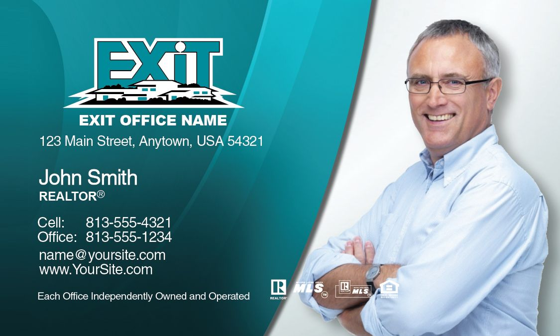 Exit Realty Business Card Template Design