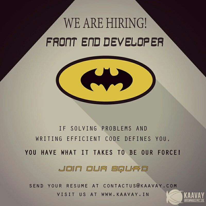 Kaavay is on the lookout for a frontend developer who is
