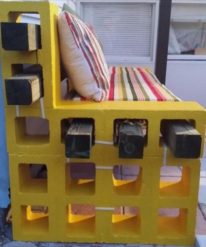 Diy Cinder Block Outdoor Bench Creative Projects