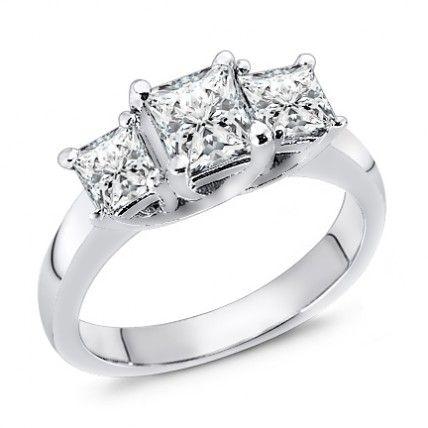Three Stone Diamond Ring 2.00 ct. tw.