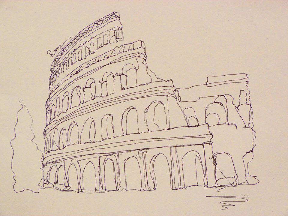 Continuous Line Contour Drawing Artists : Continuous line drawing no art pinterest drawings