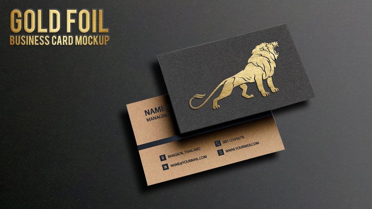 How To Create Gold Foil Business Card Mockup Metallic Foil Logo Mockup Adobe Photoshop Cc Youtube Logolar