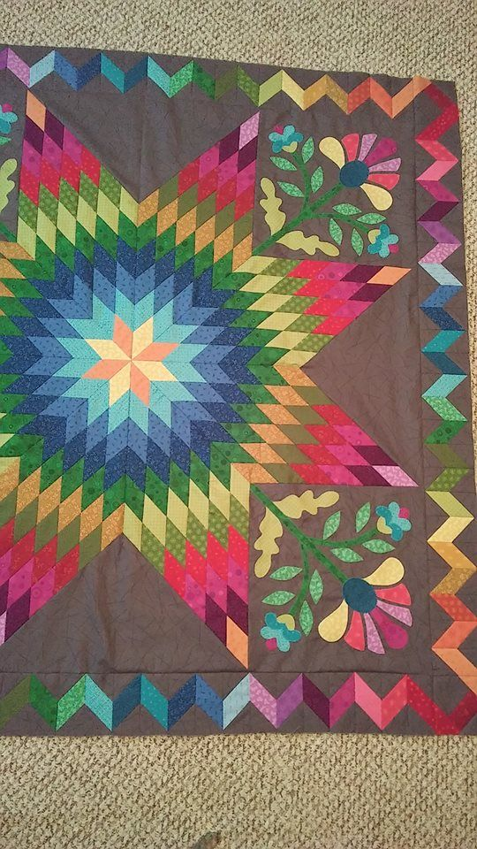love the coloring (With images)   Lone star quilt, Star quilts