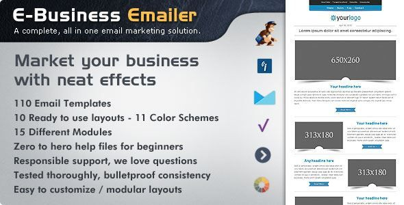 Themeforest E Business Html Email Template Free Download Plugins