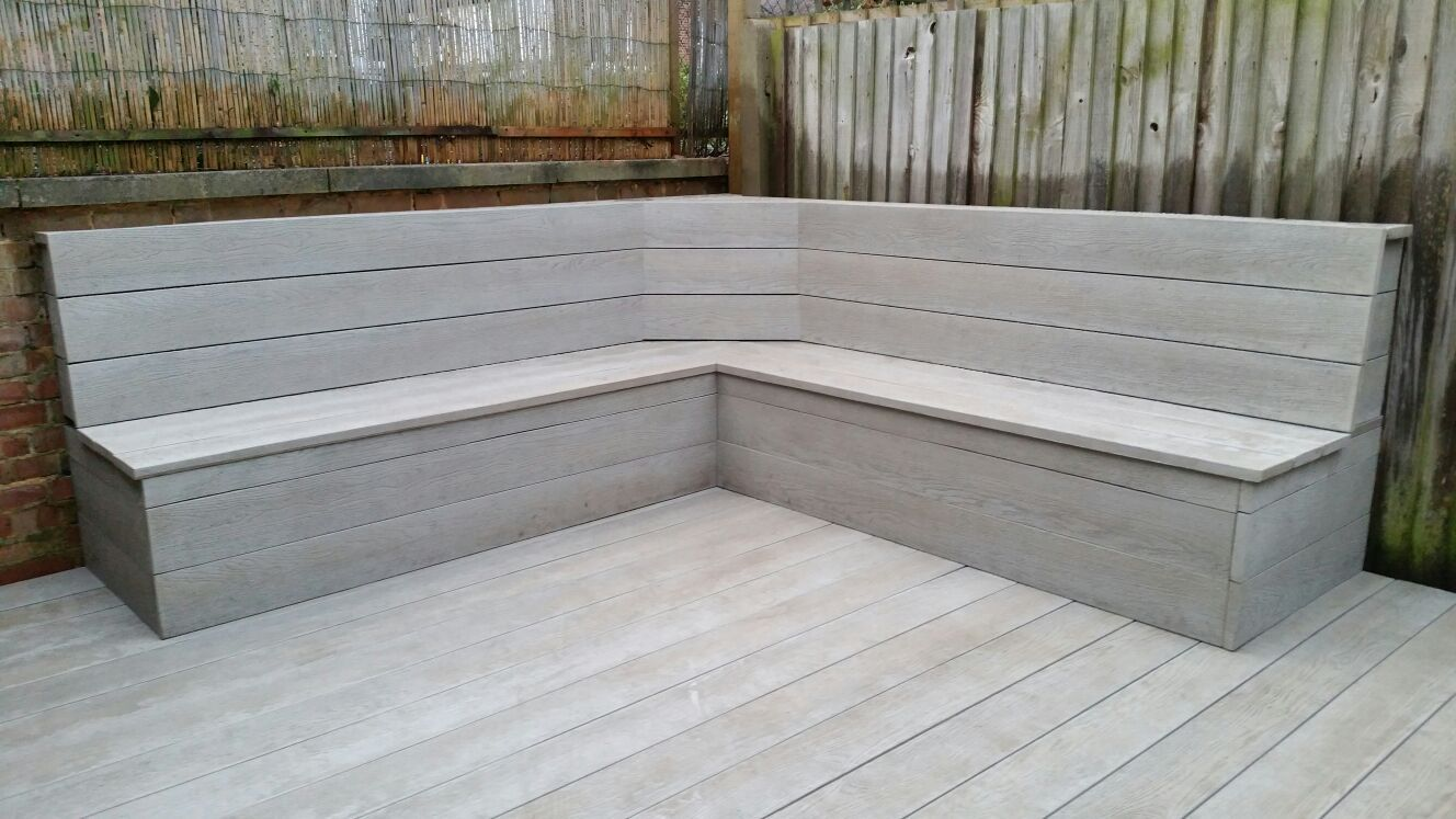Composite Decking Built In Garden Seating Patio Benches Seating Deck Seating