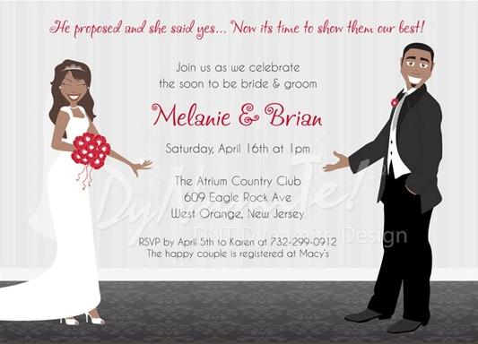 African Wedding Invitation: African American Stationery, African American Bridal