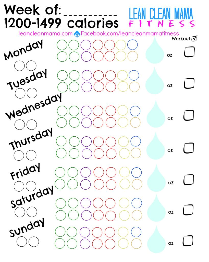 picture relating to 21 Day Fix Printable Sheets called 21 Working day Maintenance Printable Tally Sheet / Tracker 1200-1499