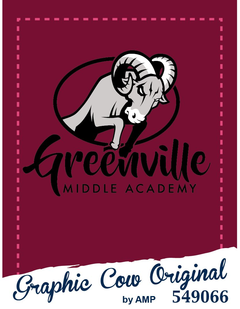 Greenville Middle rams mascot high school #grafcow
