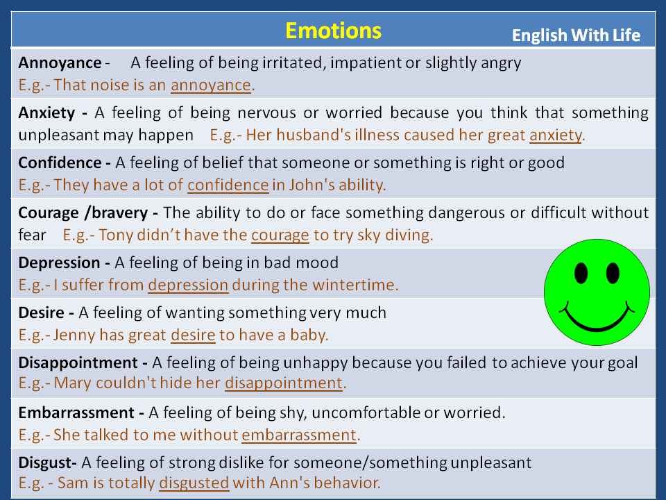 Phrases - Emotions