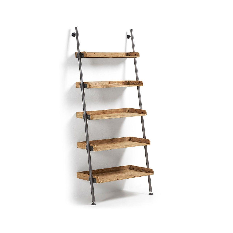Estanter a librer a industrial modular en madera y hierro - Librerias modulares ...