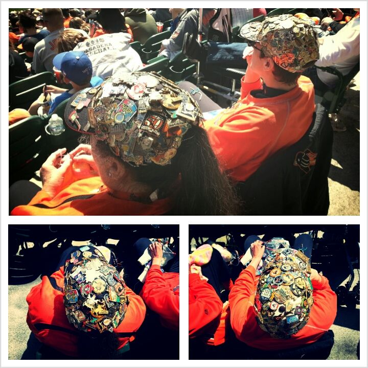 Mother And Daughter Kathy And Heather Sachs Have Collected Orioles Pins For 15 Years Wearing More Than 170 On Their Caps Orioles Birdland Camden