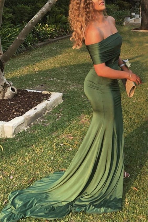 sage green mermaid gowns ML8285