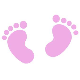 Pink Baby Footprints Baby Girl Footprint Clip Art Xd77tf Clipart Jpg 340 340 Ninos Gatos Bebe