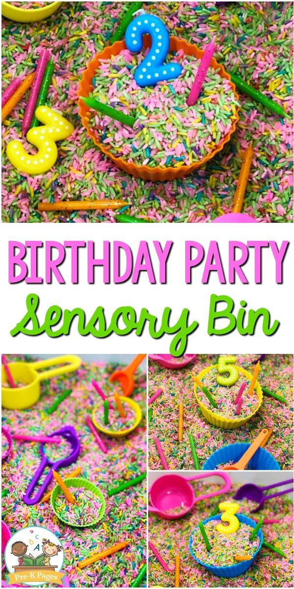 Birthday Sensory Bin for Preschool - Pre-K Pages