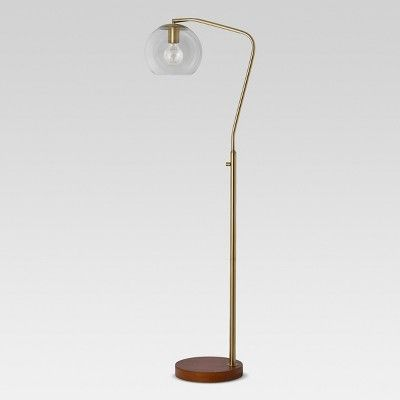 Madrot Glass Globe Floor Lamp Brass Lamp Only Project 62 Floor Lamp Brass Floor Lamp Glass
