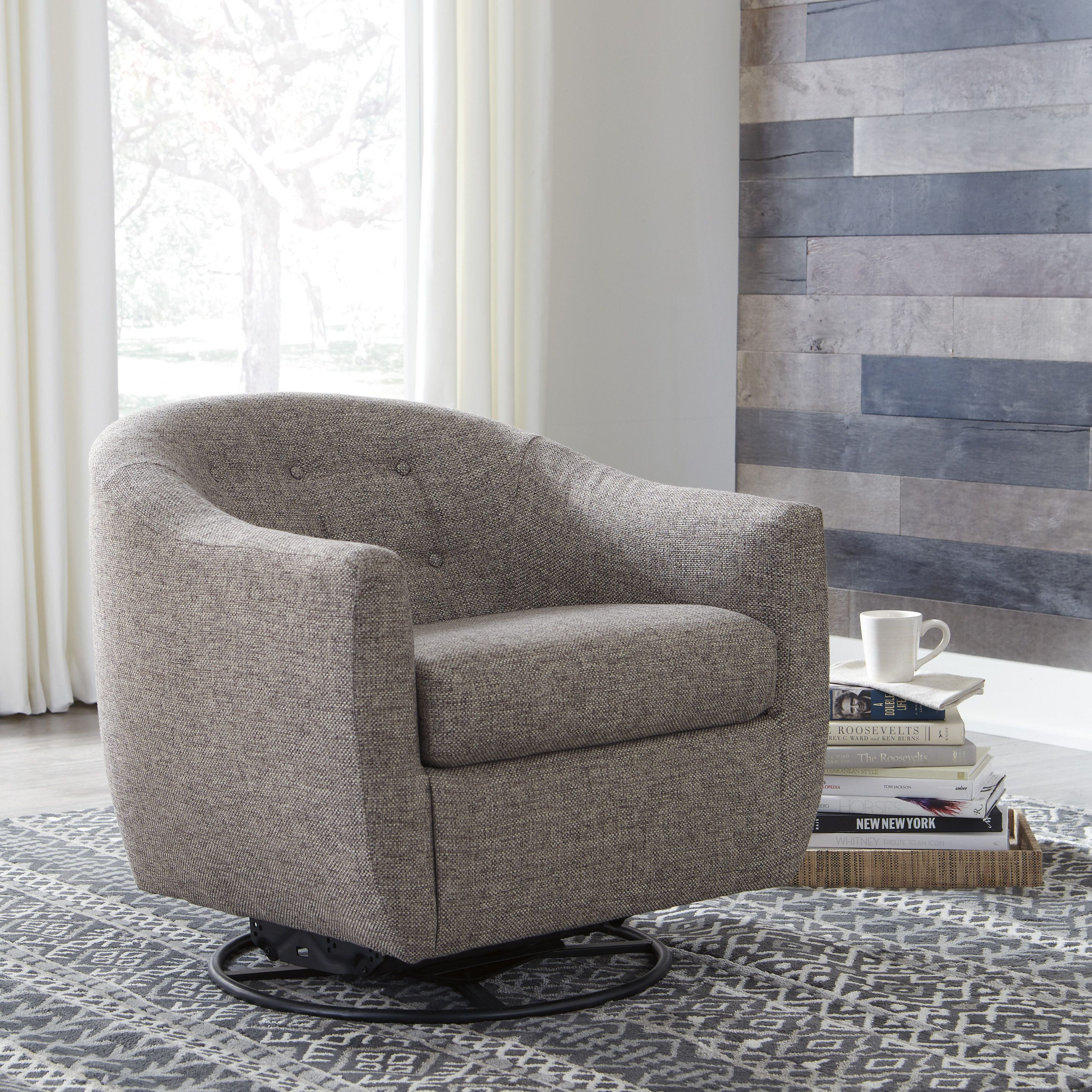Upshur Swivel Glider Accent Chair In 2020 Accent Chairs Accent