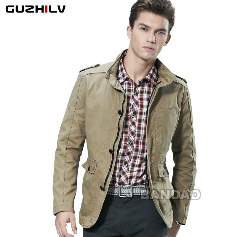 Cotton men Coat casual slim dust Fashion Brand clothes jacket ...