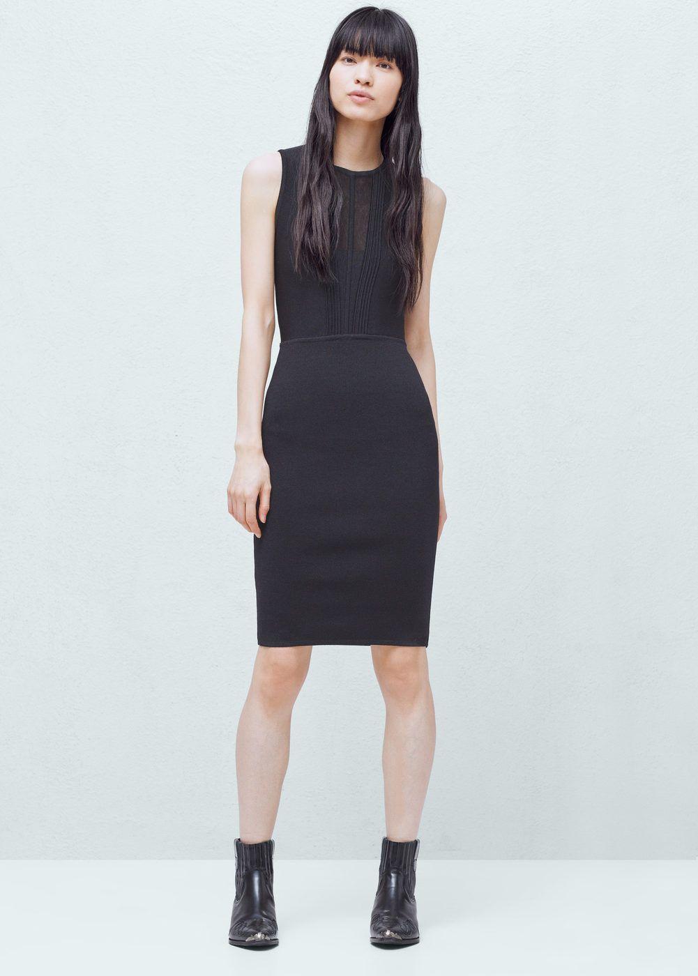 Vestido entallado - Mujer  dfb516cc6e42