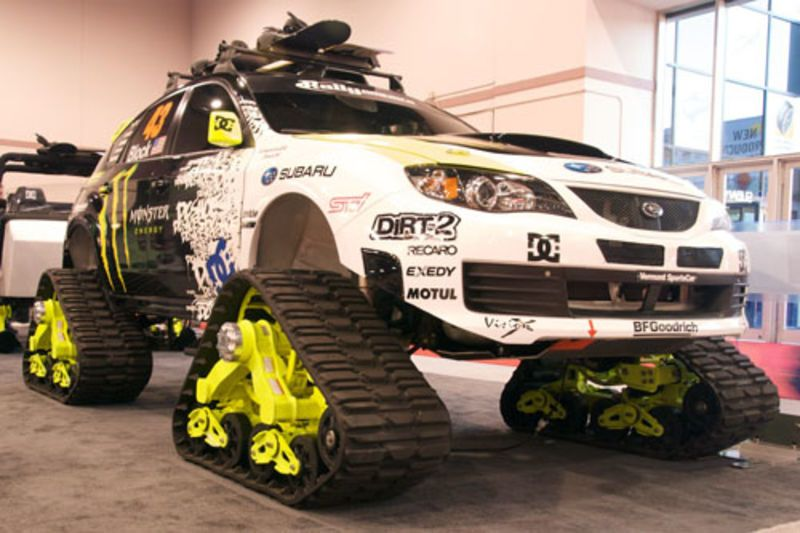 Ken Block S Tracked Subaru Sti Begs For Snow Snowcats