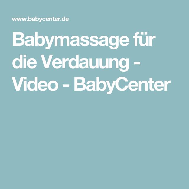 Babymassage für die Verdauung - Video - BabyCenter