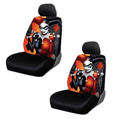 Brand New DC Comics Harley Quinn Seat Cover Customize Your Vehicle With This Is Meant To Fit Low Back Seats