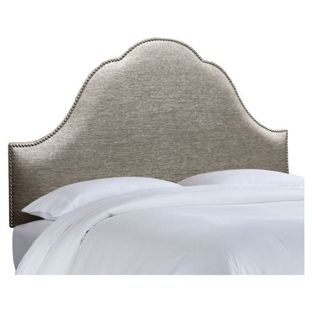 I pinned this Glitz Arch Nail Button Headboard in Pewter from the Skyline event at Joss and Main!