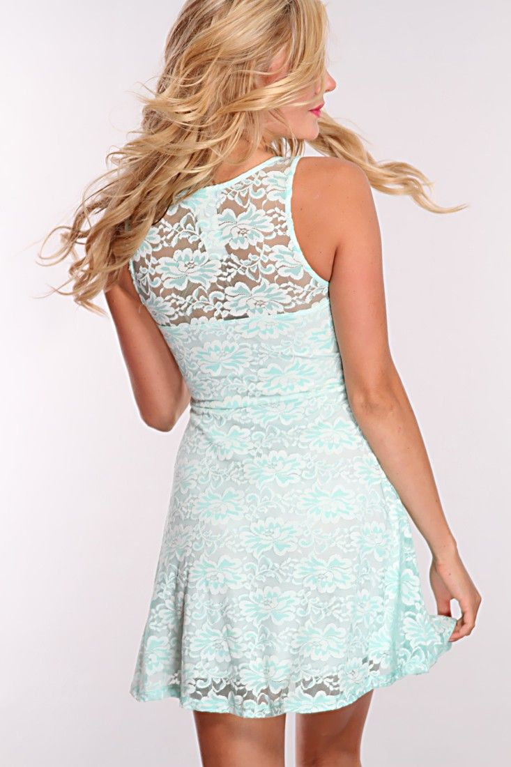 6bed1722a25 Mint Lace Sweetheart Outline Party Dress   Amiclubwear sexy dresses ...