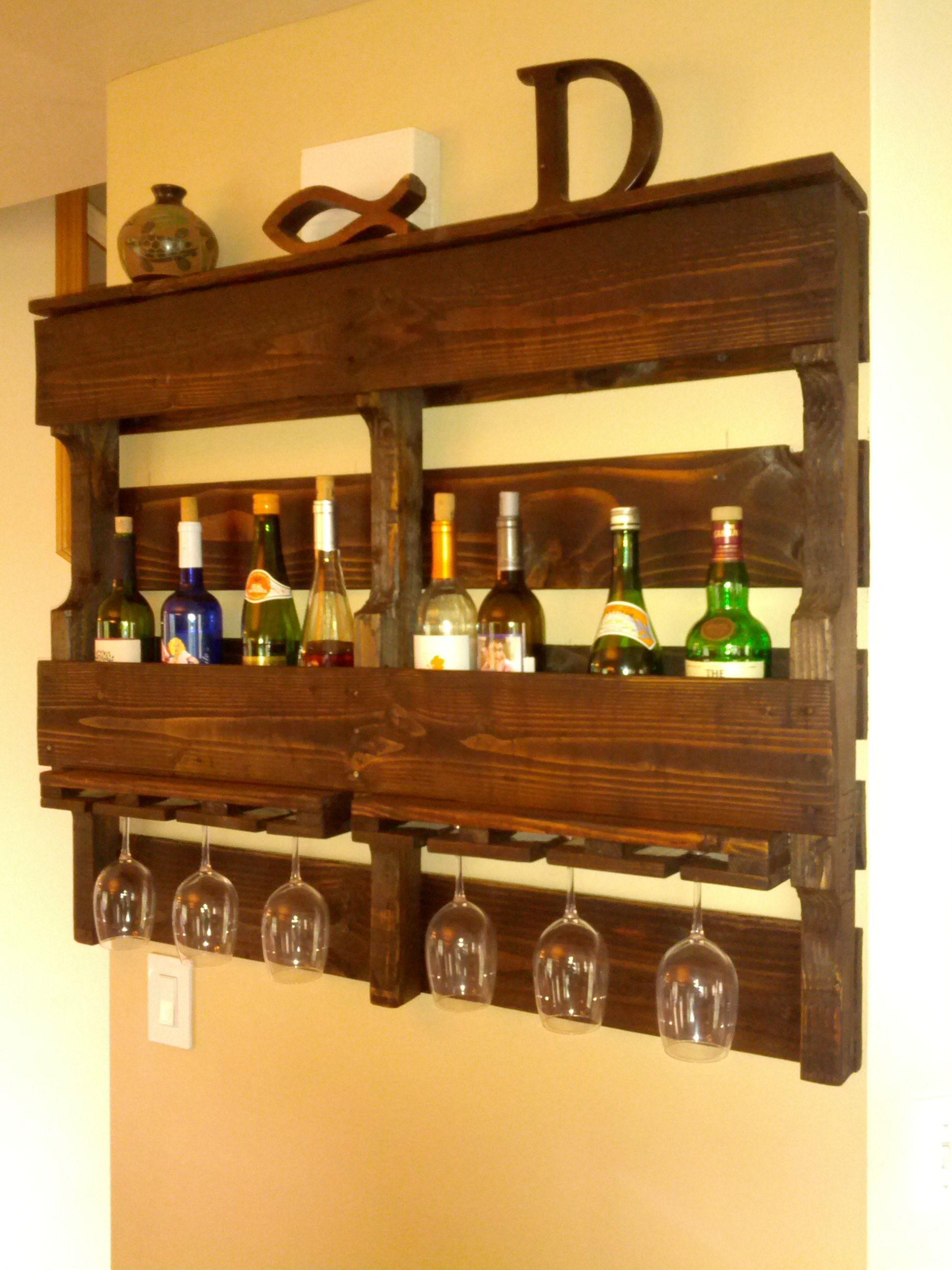 Pallet Wine Rack.   DIY   Pinterest