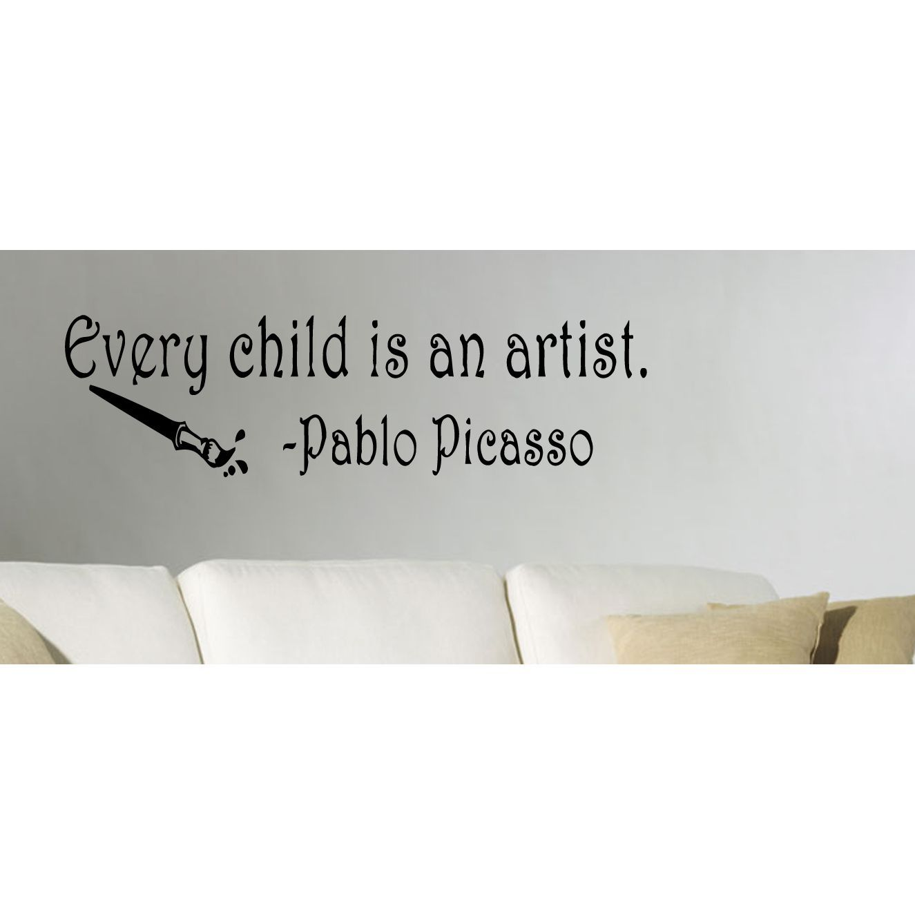 Every child is an artist quote wall art sticker decal girls