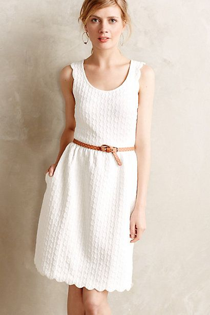 3e79b4fc9322f Caye Scalloped Dress - anthropologie.com #anthropologie #anthrofave #lwd  Rehearsal dinner dress? Depending on how casual.