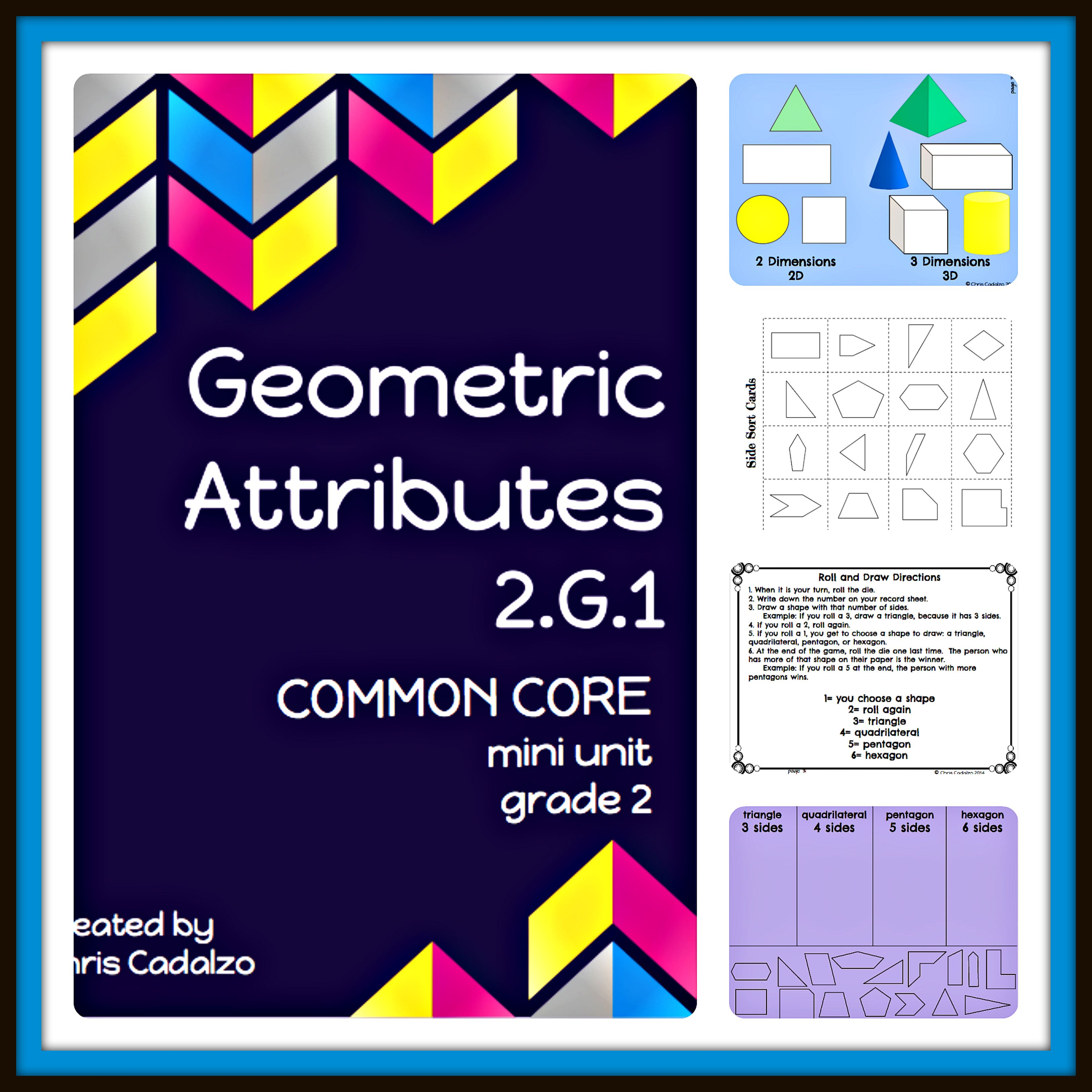 Geometric Attributes | Common core math standards, Common cores and Math