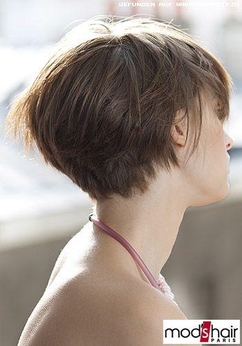 Angestufter Nacken Für Viel Volumen Hair Pinterest Bobs Short