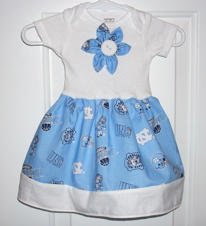 Baby Dress Baby Clothes Girls Dress Tar Heel Unc Carolina