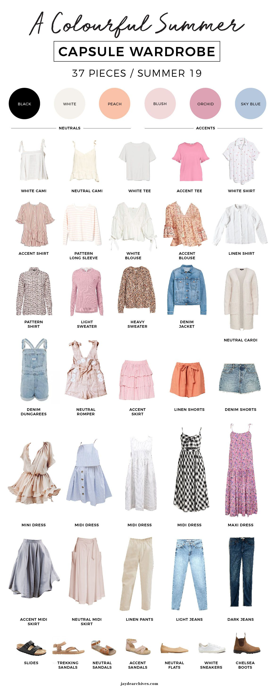 My Colourful Summer Capsule Wardrobe | Jayde Archives