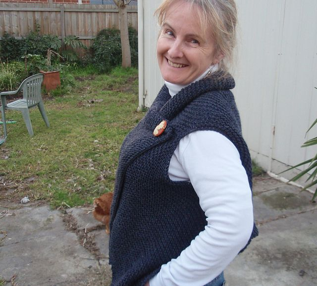 Ravelry Simple Knitted Wrap Vest Pattern By Leonie Tutorials Ck
