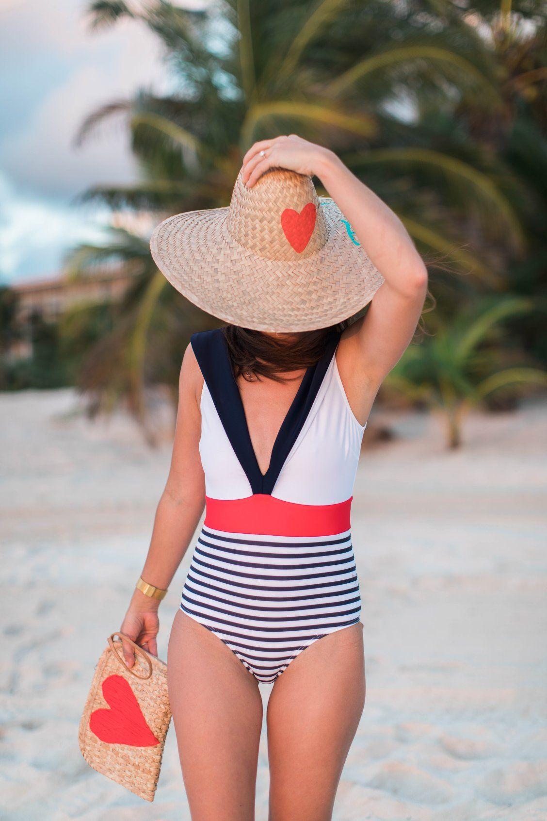 78c9c01b5e81f ModCloth x Jillian Harris in the Nautical One-Piece Swimsuit  nautical   stripes  onepiece  swimsuit  highdive  modcloth