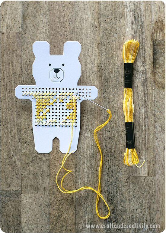 Korsstygn Till Barnrummet Cross Stitch Paper Animals Craft