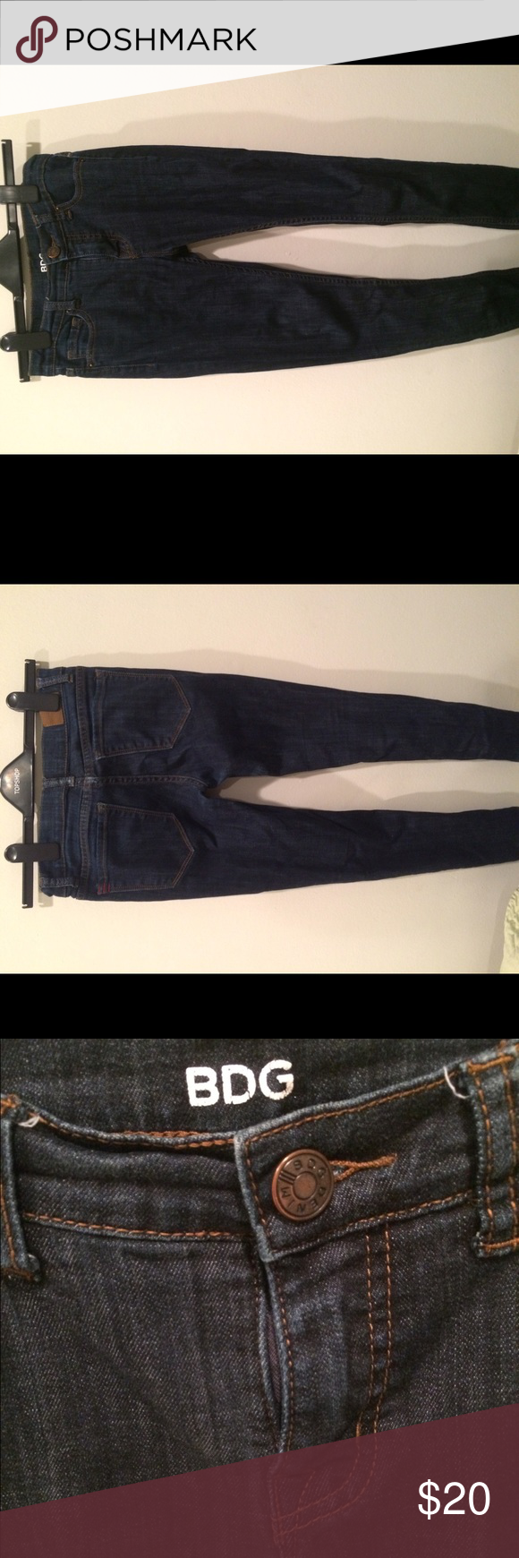 Urban Outfitters Skinny Jeans Mid rise twig style skinny jeans. Dark blue color Urban Outfitters Jeans Skinny
